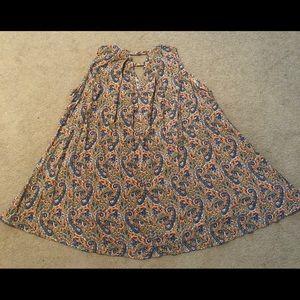 Paisley patterned swing dress size large